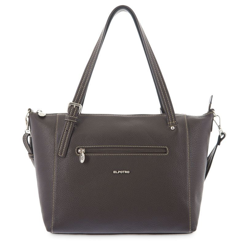 Bolso mano mujer tote marrón flouter