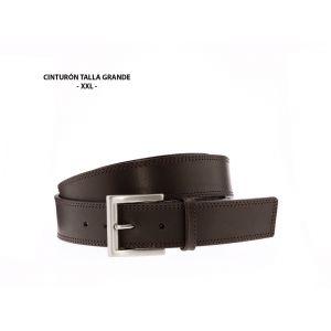 Cinturón Talla Grande Dos costuras tono Marrón