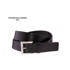 Cinturón Talla Grande Cuero Liso Negro