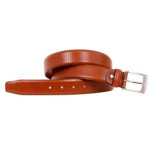 Cinturón hombre piel Rayas